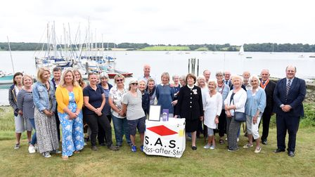 Lord Lieutenant Lady Clare awards S.A.S volunteers Queen's award Picture: CHARLOTTE BOND