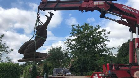 Behold by Maurice Blik, which is more than 8ft tall, is part of the sculpture installation for the EA Festival