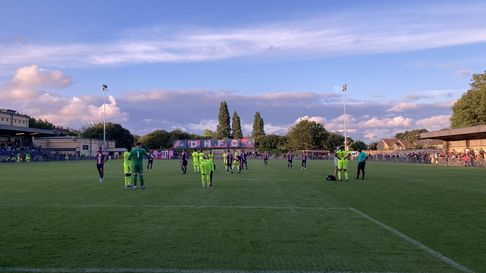 Leyton Orient in pre-season action against Dulwich Hamlet at Champion Hill