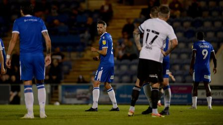 Cole Skuse on as a second half sub against Ipswich at Colchester United
