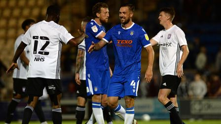 All smiles for Luke Chambers after Ipswich's 3-3 friendly draw at Colchester United