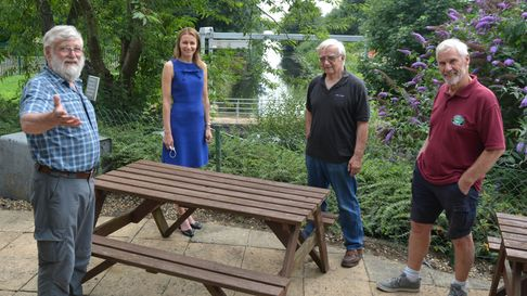 Lucy Frazer, MP for South East Cambridgeshire, at Prickwillow Museum