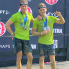 """Ely friends George Marsden and Jake Scott-Paul raised £3,300 for Mind by completing the Spartans """"Super"""" obstacle race"""