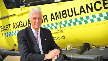 Patrick Peal, chief executive of the East Anglian Air Ambulance. Picture by SIMON FINLAY.