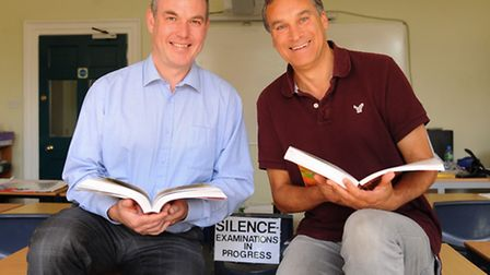 Norwich headteachers Brian Conway, left, of Notre Dame High School; and Adrian La Chapelle, of St Au