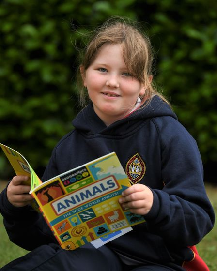 Wisbech Grammar School studentwith her new bookthanks to MP Steve Barclay's annual Read to Succeed campaign.