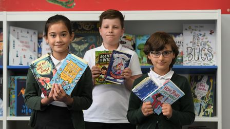 Benwick studentswith theirnew books thanks to MP Steve Barclay's annual Read to Succeed campaign.