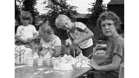A holiday playscheme at Castle Park, Colchester in August 1987