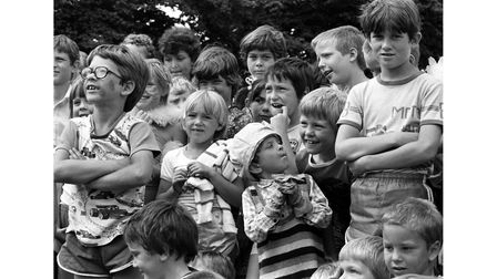 Children at Combs Ford holiday playscheme in Stowmarket in August 1983