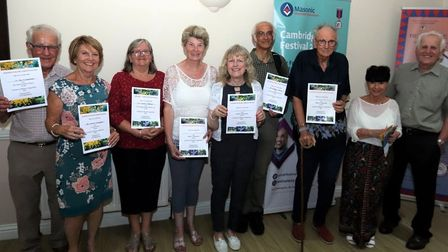 Winners and prize giving for March Garden competition