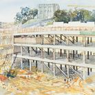 Kay Ohsten was artist in residence during the construction of Castle Mall in Norwich, which started 30 years ago this summer