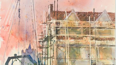 Artist Kay Ohsten captured the construction of Castle Mall, Norwich, during its three-year build