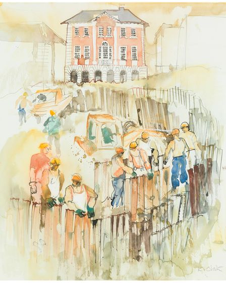 Kay Ohsten's works show many well-known Norwich landmarks