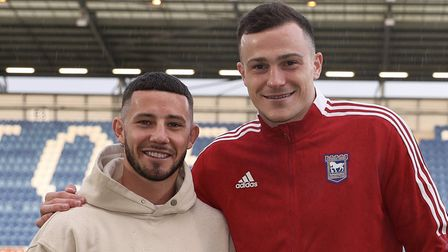 New Ipswich Town signings Conor Chaplin and George Edmundson, pictured at Colchester