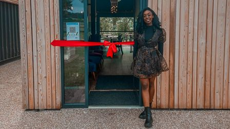 Hannah James opening Constable Park cafe at the glamping site in East Bergholt