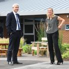Steve Barclay, MP for North East Cambridgeshire, with Jane Horn, Executive Headteacher of Cromwell Community College
