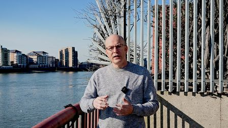 Dan McCurry... end of the path, but not end of the road in campaign toopen up Thames foreshore