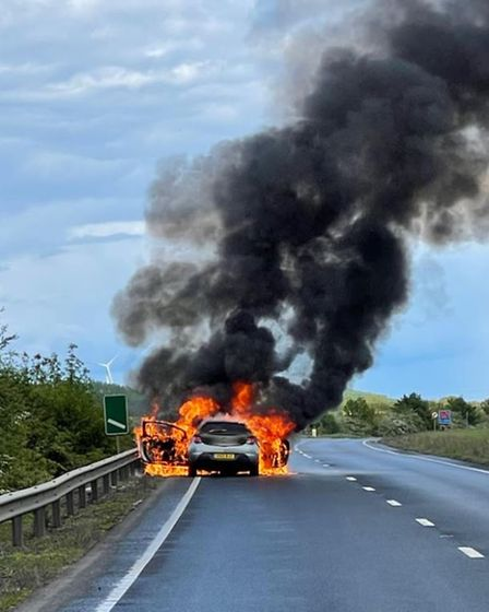 Cambridgeshire special constable Charlene used what3words to provide the location of this car fire