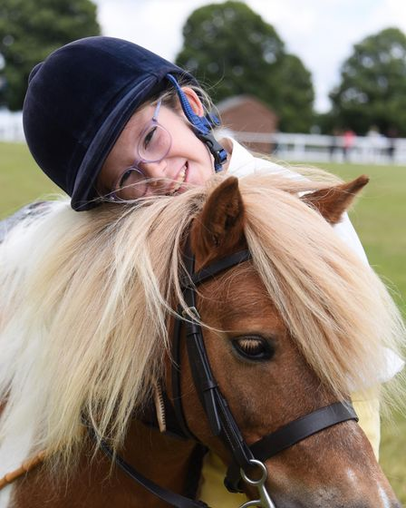 Anne-Marie Bannar, nine, with her Shetland Dodger at the Norfolk Equestrian Show, at the Showground.