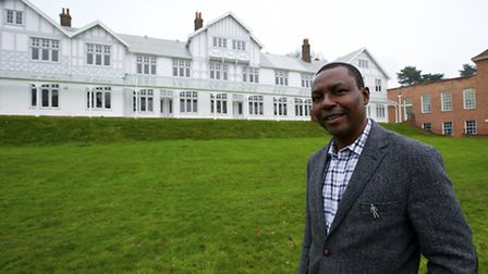 Mundesley Hospital Chief Executive Elijah Adeyemi at the now ready community hospital which has just