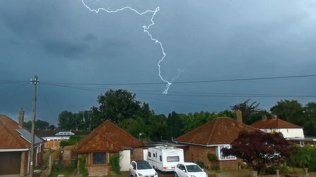 Norwich has been hit by thunderstorms.