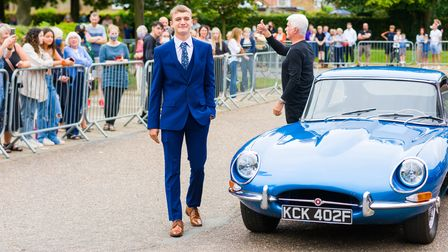 Horsepower from four legs to four-wheel drive was called into action to transport teenagers to their school prom night.