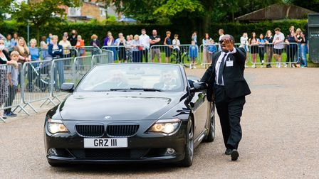 Students showed up in a range of transport for their prom night.