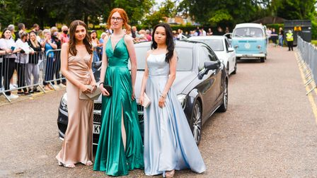Students at St Clement's High School at their prom night.