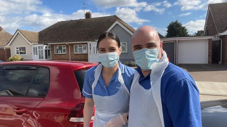 Denisa and Jorge from Anglia Care