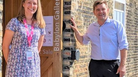 Mayor of Cambridgeshire and Peterborough Dr Nik Johnsonvisited the Babylon Gallery in Ely.