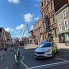 Head Street in Colchester is currently closed