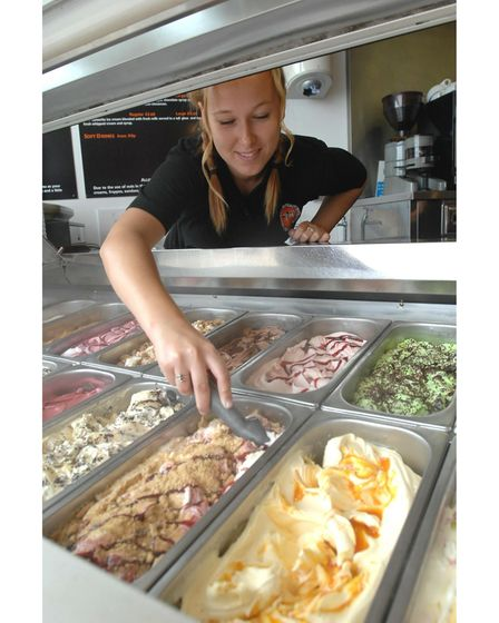 News Katie; Pic Lucy Taylor; Megan Small of The Little Ice Cream Co. Felixstowe.