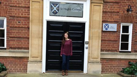 Former Hellesdon High School pupil Emma Slaughter outside of St Hugh's College Oxford. Submitted