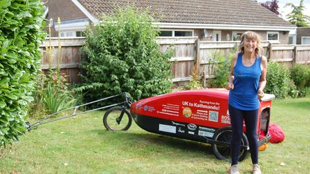 Rosie Swale Pope MBE (pictured) was pictured on her way to Littleport and Wisbech, during her charity run