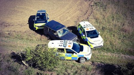 A group of off roaders were unable to escape Cambridgeshire Constabulary's thermal eye last December