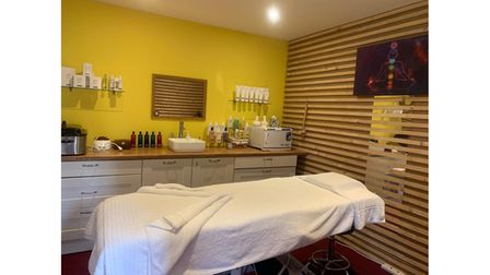 One of the treatment rooms at Potton Hall