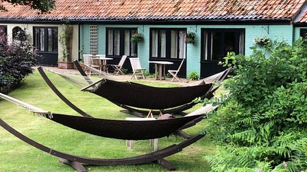 Relax in a hammock at Potton Hall