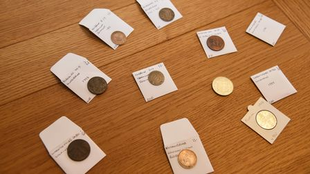 Mark specialises in pre-decimalisation coins, such as shillings, threepences, crowns, and florins
