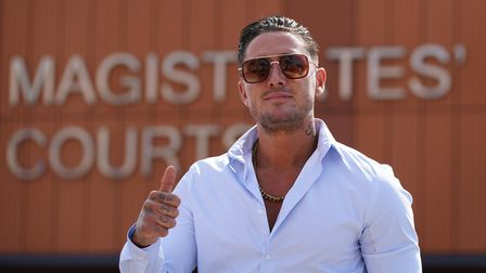 File photo dated 2/7/2021 of reality TV star Stephen Bear who has denied sharing private sexual imag