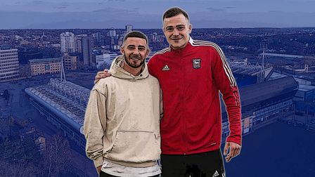 (L-R) Conor Chaplin and George Edmundson feature in this week's Ipswich Town Transfer Talk video