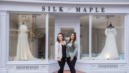 Tegan Patmore and Roberta Lambert have opened a new bridal shop in Sudbury called Silk and Maple. P