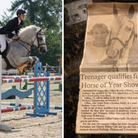 Tom Bartrup has followed in the footsteps of his mum GillianBrewis by qualifying for the horse show at age of 15.
