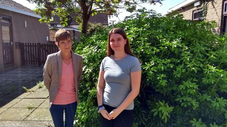 Ursula Scott, Stowmarket Library manager, and Summer Lambert, library and information manager at Stowmarket Library.