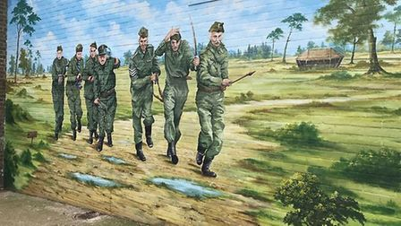 Dad's Army mural in Thetford