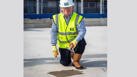 Yes... the mayor likes 'topping out' on new council housing construction sites.