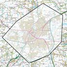 A map showing the area of Chelmsford covered by the dispersal order