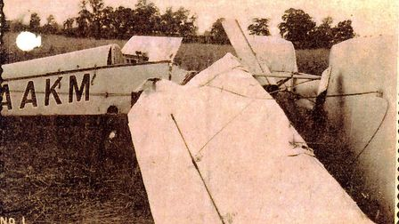 Wreckage of the plane at Littleport