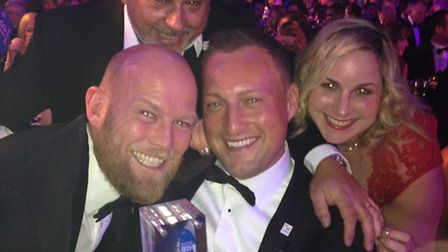 CarShop won Used Car Supermarket of the Year at the Car Dealer Awards. Left to right, Dave Palmer, o