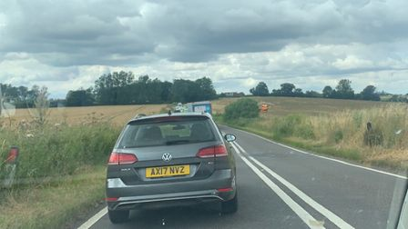 The air ambulance has been called to a crash between a motorcycle and a car on the A1071