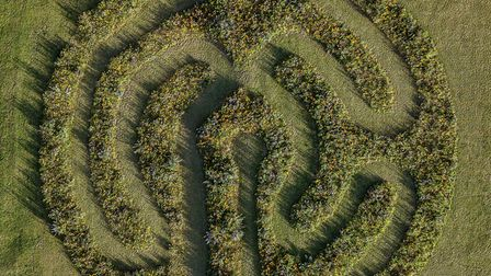This wildflower labyrinth is a perfect fit for the sacred site
